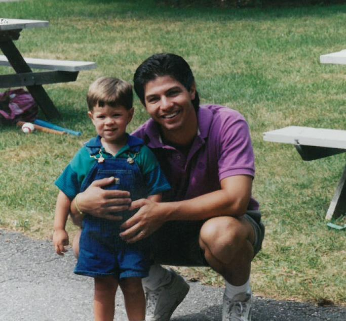 Derek & Dylan at picnic area - 1993