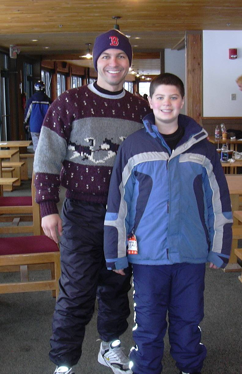 Dylan & Dad at Bretton Woods - Apr04