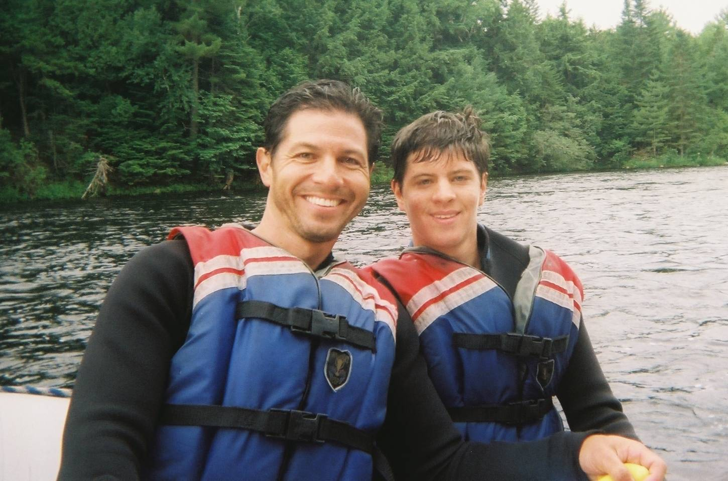 Dylan and Dad rafting Penobscot - Jul08
