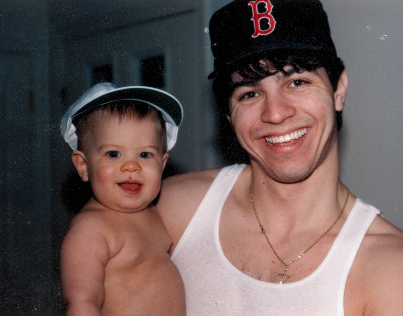 Dylan as baby with dad - 1992